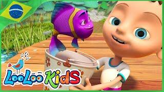 1, 2, 3, 4, 5, Eu peguei um peixe vivo - Música Infantil | LooLoo Kids Português