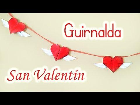 Manualidades para San Valentín ♥ GUIRNALDA de CORAZONES con ALAS ♥ - Innova Manualidades