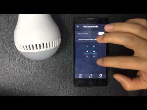 Smart Music Bulb's wake up mode