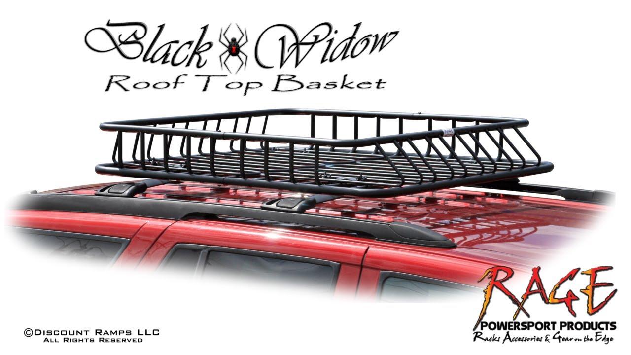 Roof Rack Storage Basket - RB-DLX-V2 - YouTube