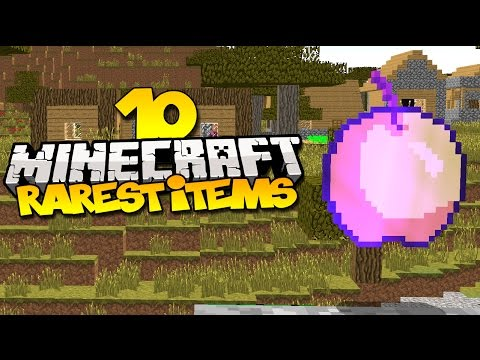 Top 10 Rarest Items In Minecraft - YouTube