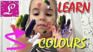 LEARN COLORS with Lana Super Simple Song Finger Family Song