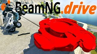 Car-sized Beyblades Are The Most Destructive Force Known To Man - BeamNG Drive