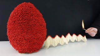 Match Chain Reaction Amazing Fire Domino - WORLD RECORD EGG