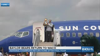 National Champion Baylor Bears return home after Final Four
