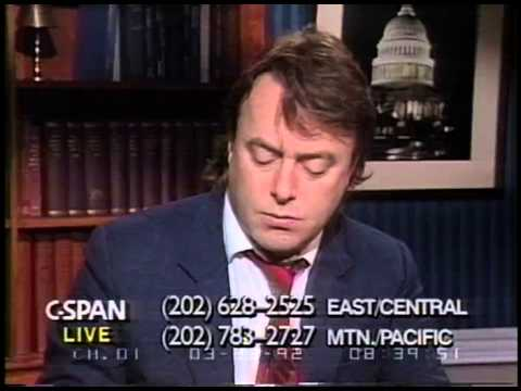 Christopher Hitchens   1992   Discussing events in the news with John Fund