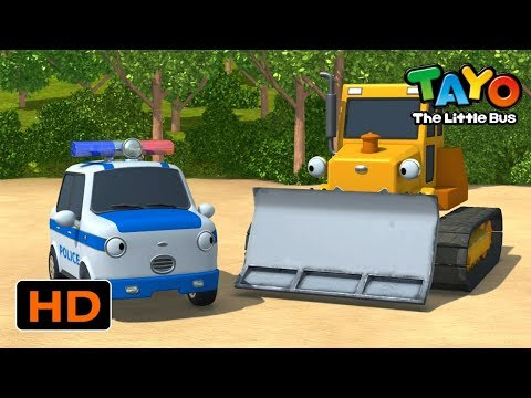 Tayo English Episodes L Pat The Police Car And Billy The Bulldozer L Tayo The Little Bus