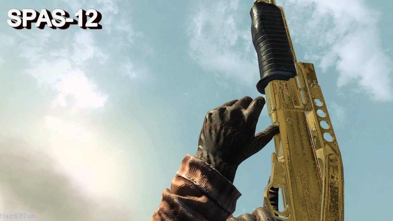 Call Of Duty Black Ops All Gold Weapons In Slow Motion -8984