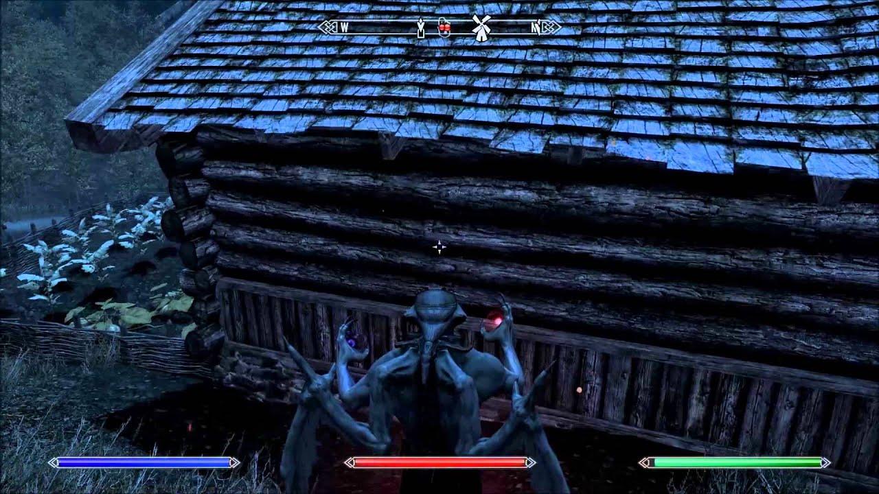 The Elder Scrolls V Skyrim Vampire Lord Gameplay 1 Youtube