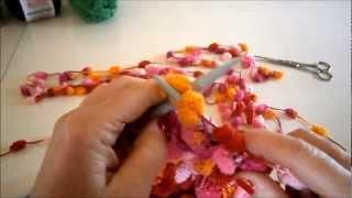 Πλέξιμο κασκόλ με βελόνες Νο 9