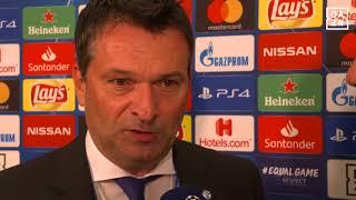 DAZN: Christian Heidel von Schalke 04 nach der Champions League Auslosung