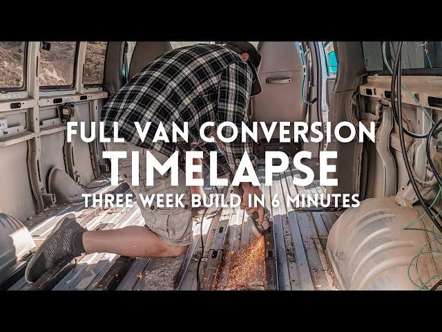 Couple Builds Camper Van In THREE WEEKS | Chevy Express Van Conversion Full Build Timelapse
