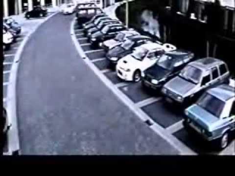 amazing car parking at cctv camera