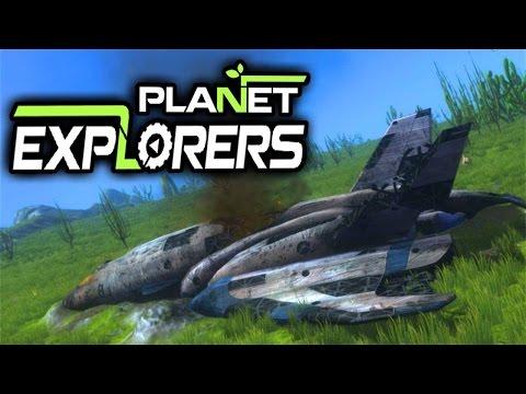 Crash Landed - Planet Explorers Gameplay -  Sandbox Survival RPG (Let's Play Planet Explorers Ep 1)