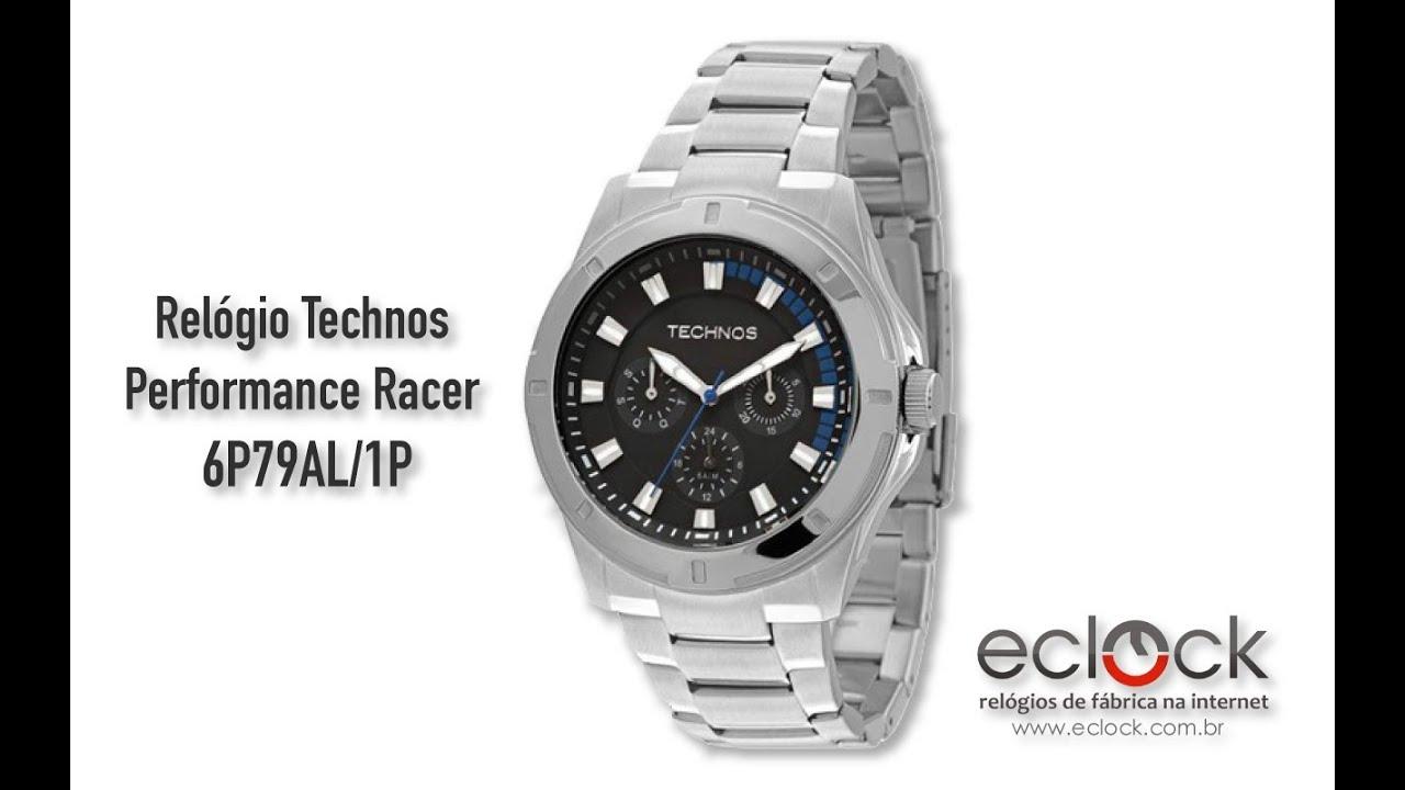 Relógio Technos Masculino Performance Racer 6P79AL 1P - Eclock - YouTube 116b9359af