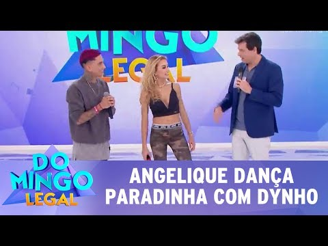 """Domingo Legal (16/07/17) - Angelique Boyer dança """"Paradinha"""" da Anitta!"""