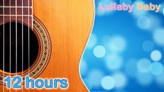 ☆ 12 HOURS ☆ Relaxing GUITAR Music & OCEAN Sounds ♫ Peaceful Acoustic Guitar Music ☆ Baby Sleep