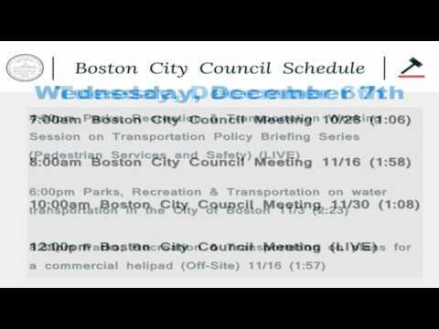 Boston City Council Live Stream