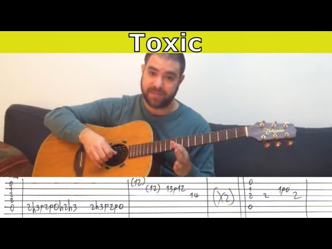 Fingerstyle Tutorial: Toxic - Guitar Lesson w/ TAB