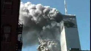 9/11 Archive Footage-South Tower collapsing
