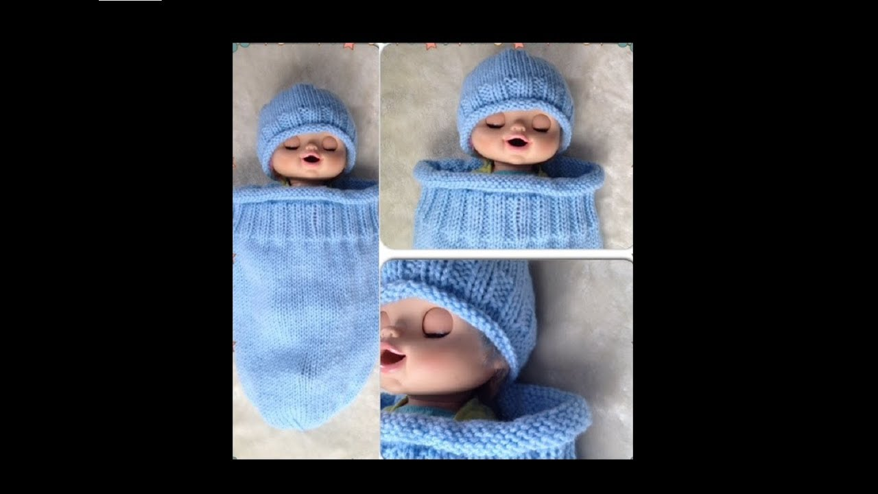 Knitted Baby Cocoon & Hat Set Pattern #132│by ThePatternFamily ...