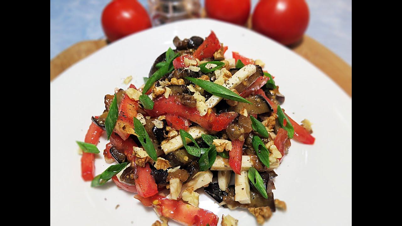 салат с помидорами чесноком и курицей