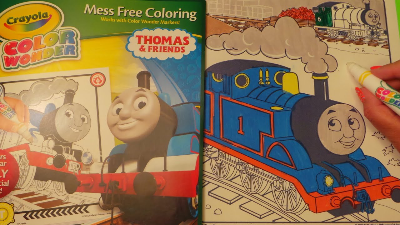Crayola Thomas & Friends Color Wonder Colouring Review - YouTube