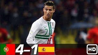 Португалия Испания 4 1 Обзор Контрольных Матчей 29 06 2010 17 11 2010 HD