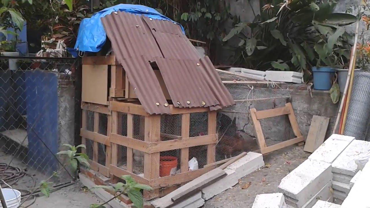Como hacer un gallinero con cajas de madera reciclada - Como hacer un altillo de madera ...