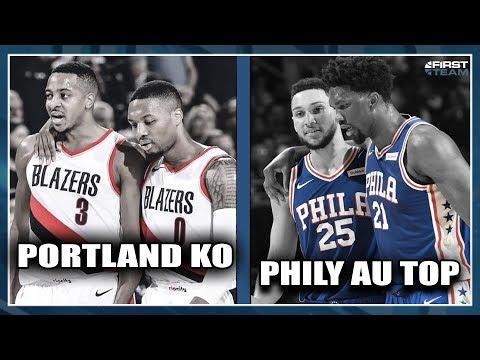 PORTLAND KO, PHILY AU TOP ! First Talk Playoffs NBA #49