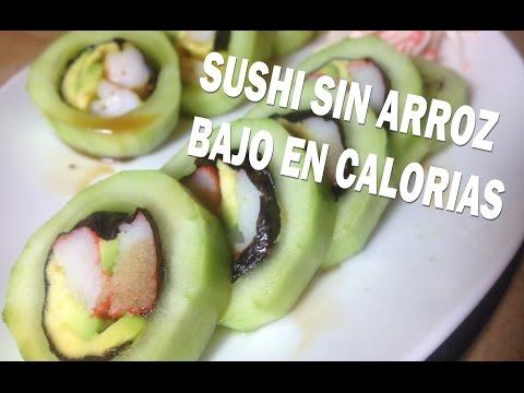 Recetas light faciles - Sushi sin arroz ( bajo en calorias y carbohidratos ) / Low carb sushi