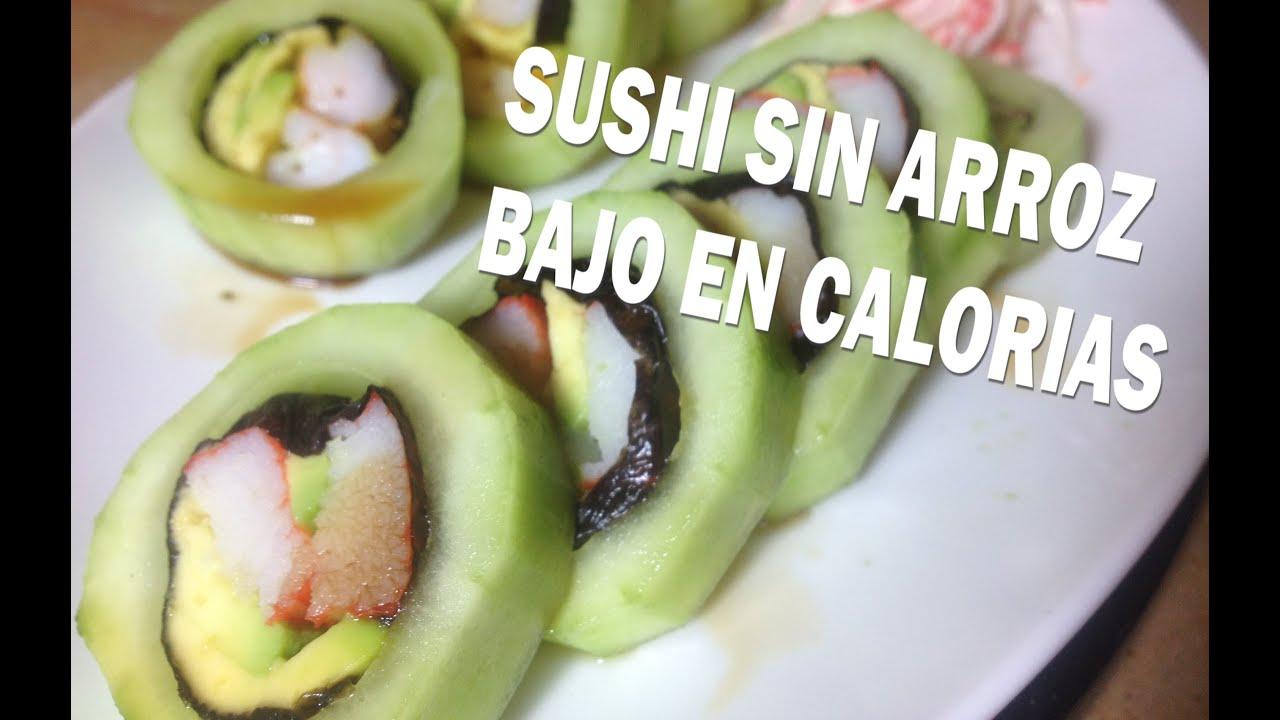 Comiendo sushi en dieta keto