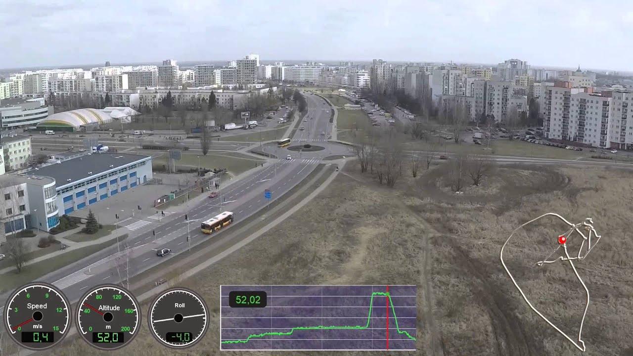 DJI Ultimate Flight test video with Dashware gauges
