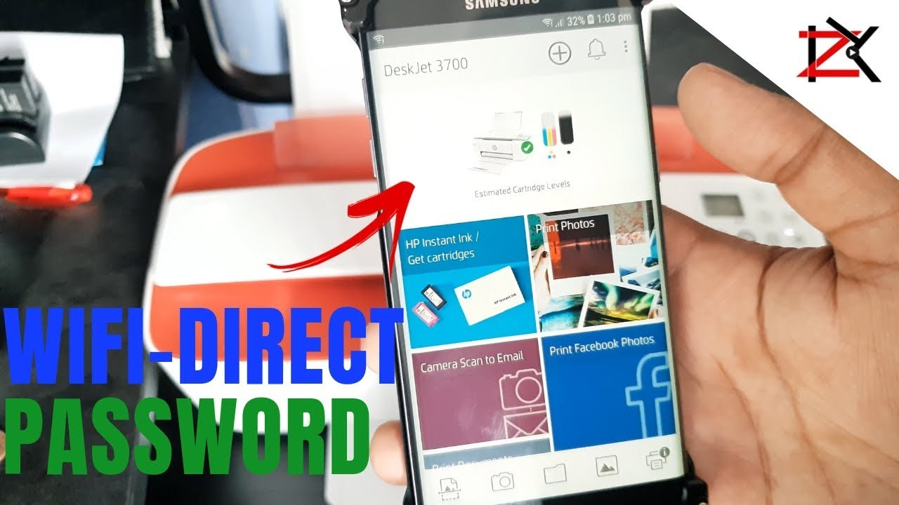 How To Find & Change Password for HP Deskjet Printer | Wi-Fi Direct  Password | HP Smart App