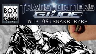 TRANSFORMERS/GIJOE WIP PART 09: SNAKE EYES
