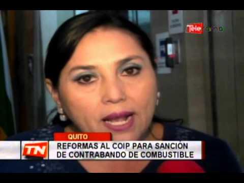 Reformas al COIP para sanción de contrabando de combustible