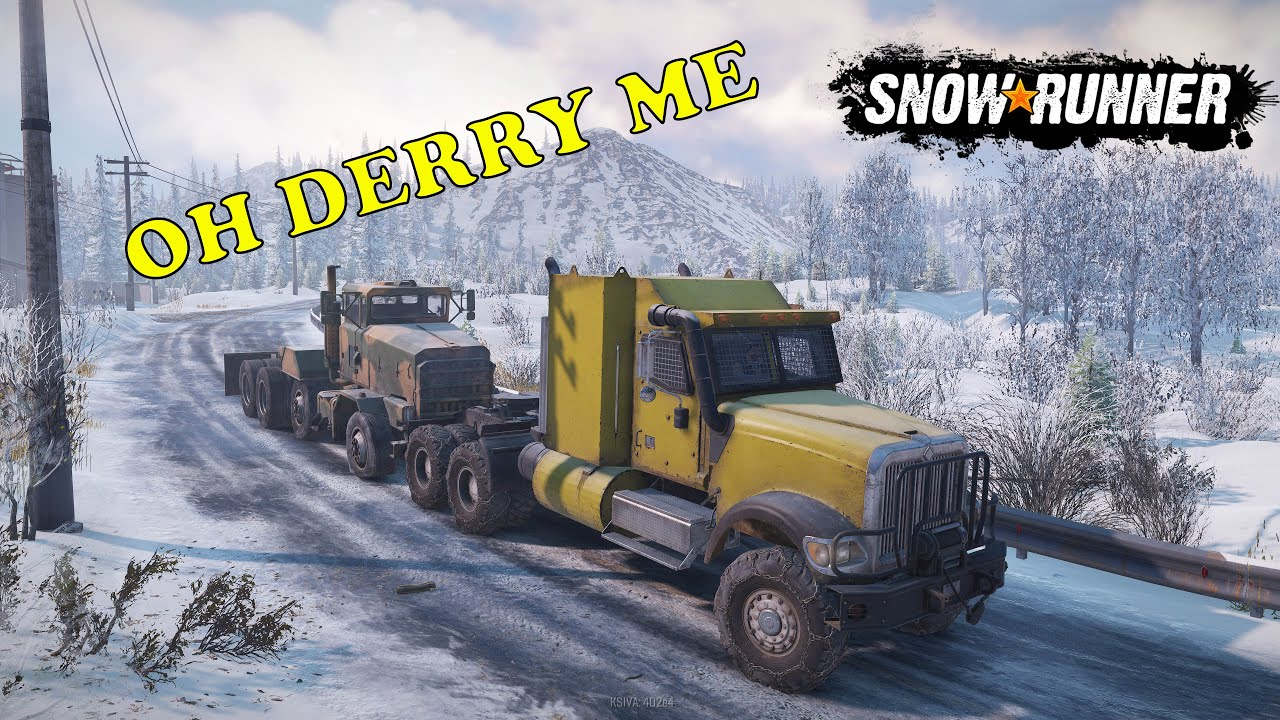 SnowRunner Ep 32     Bridge building in White Valley and trying to get the Derry out