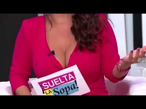 Carolina Sandoval cleavage & big tits hanging out (12 30 13)