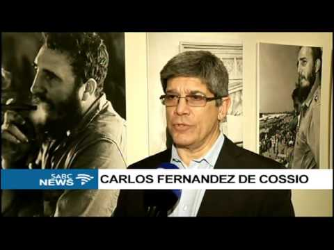 An exhibition depicting the life and times of Fidel Castro on display