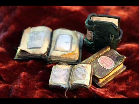 DIY: How To Make Antique Books, Dream Journal, Witchcraft Book in Polymer Clay