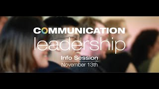 Comm Lead 2018 Info Session Livestream