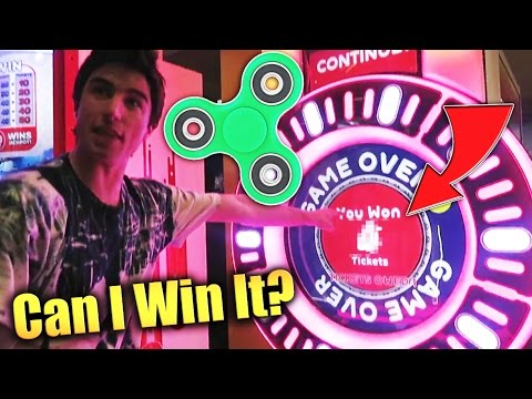 Thumbnail: Can We Win A FIDGET SPINNER From The Arcade!?!?