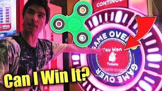Can We Win A FIDGET SPINNER From The Arcade!?!?