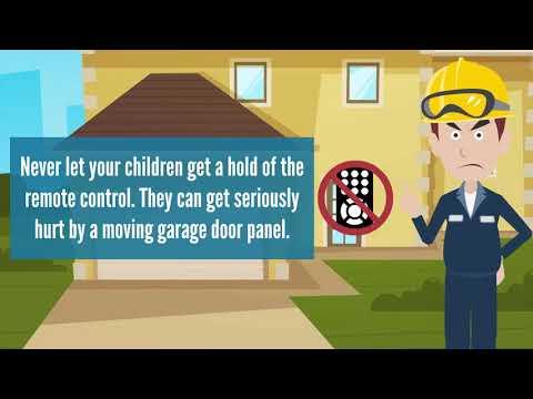 Keep Your Kids Safe Around The Garage Door Video Tip Garage Door
