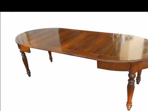 Tavolo tavoli ovali allungabili classici stile 800 gamba tornita ...