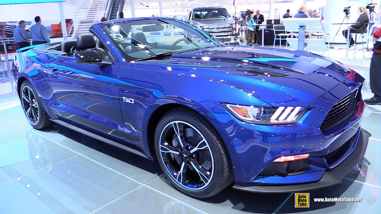 2016 Ford Mustang Gt Convertible Premium Exterior And Interior Walkaround Detroit Auto Show