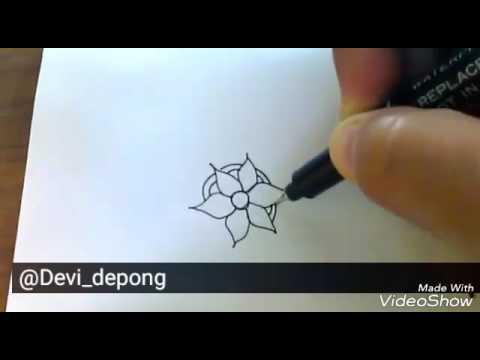 Belajar Menggambar Model Bunga Batik Youtube
