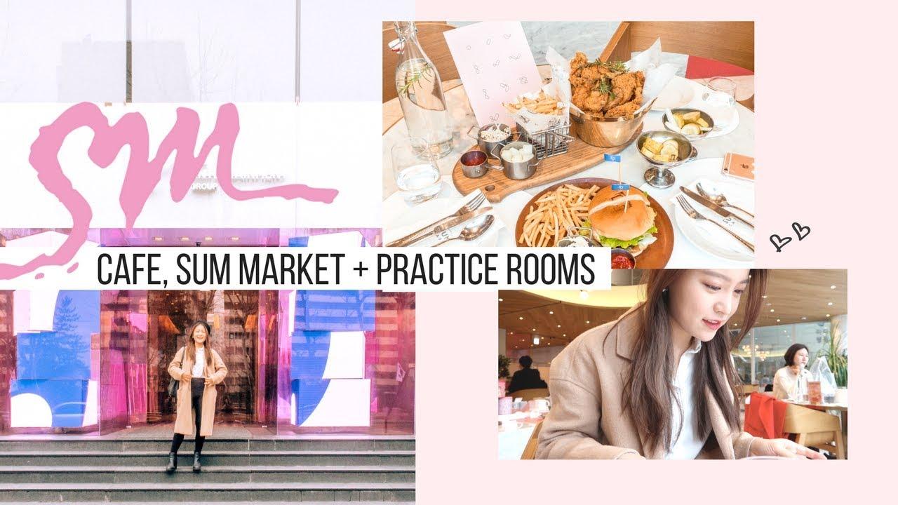 Inside SM Entertainment, Restaurant, Cafe, Market + SM Practice Rooms | Korea Vlog #9