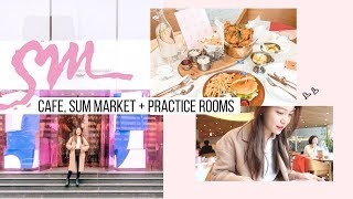 Inside SM Entertainment, Restaurant, Cafe, Market + SM Practice Rooms | Korea Vlog #9