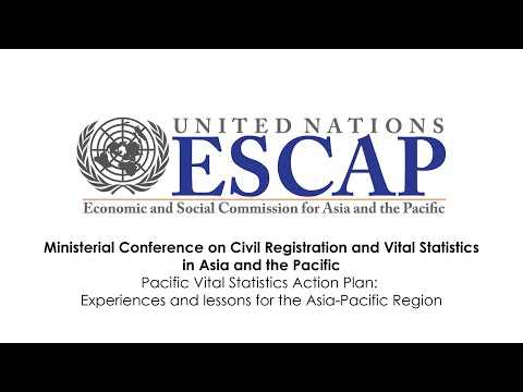 CRVS - Pacific Vital Statistics Action Plan: Experiences and lessons for the Asia-Pacific Region